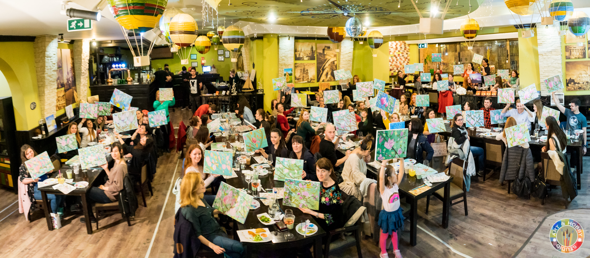 wine and paint team building